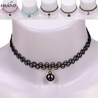 Hot New fashion jewelry Fishing Line weave tattoo choker pendant necklace
