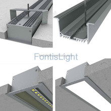 Wall Mounted/Ceiling Mounted Aluminum Lighting Profiles with flange IP44 Rate 2m/pcs