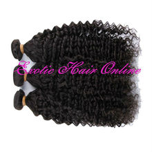 Exotichair ponytail hair extensions 30 inch remy human hair weft