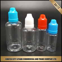 Mass Stock for 30ml pet square dropper plastic bottle round cap cover for e-cigarette drop shipping