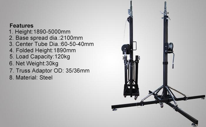 Heavy Duty Truss Support Crank Light Stand LS012