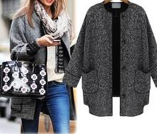 d60263h 2015 European autumn new women's coats Single-breasted nine points sleeve cotton linen jacket Leisure wild short coat