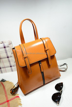 Soft leather Korean style bag,leather backpack