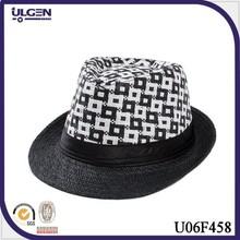 Jazz Fedoras Hat For Man Women Classic Gentleman Cap Breathable Linen paper straw fedoras hat