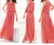 HOT SALE IN SEASON Beautiful pink Long Chiffon Bridesmaid Evening Formal Party Ball Gown Prom Dress