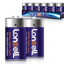 LONCELL Brand D size 1.5v r20 um1 dry cell battery