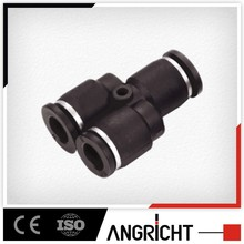 A104 China supplier union y type pneumatic plastic square tube connector and fittings