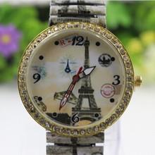 Alibaba wholesale full printing Elastic strap Pyramid watch diamond