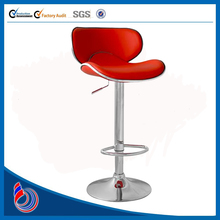 Leather Bar Stool In Red with Gaslift Action JH151