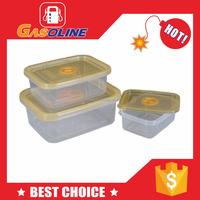 Cheapest excellent 4 siders locks lid plastic food storage