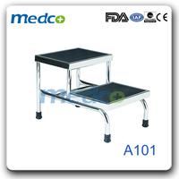 Padded 2 step adjustable step stool A101