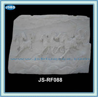 Hand Carved Cheap White Marble Eight Horse Relief