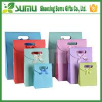 2015 new design custom mini kraft paper gift bag