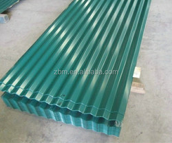 corrugated steel roofing panel and shingle