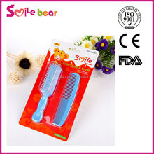 Yiwu factory supply mini plastic baby hair brush and comb sets