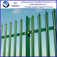 Factory sale powder coated palisade fence panels/galvanized steel palisade fencing