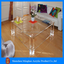 Hot Sale customized acrylic coffee table and cube