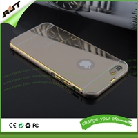 Wholesale MOQ 50pcs premium quality 4.7 inch 24K golden guangzhou mobile phone case for iPhone 6, mirror phone case