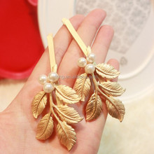 New Design Ancient Ways The Leaves Hair Clip Korea Ornaments Pearl Hairpin