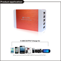 fashion design high grade restaurant table mobile phone charger, 5v 8a 5 usb mobile table charger