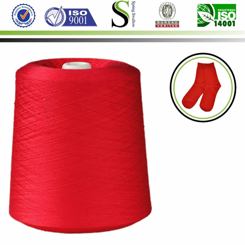 Free sample Ne30/1 colourful cotton yarn blended yarn