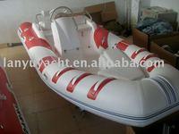 rigid inflatable pvc motor boat