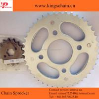 China 1045# steel motor spare part OEM brand motorcycle chain sprocket kit