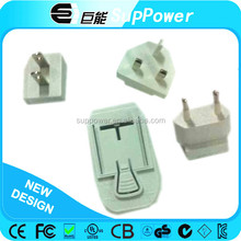 UK US AUS EU interchangeable plug ac adapter 9v 500ma with CE UL FCC SAA,etc