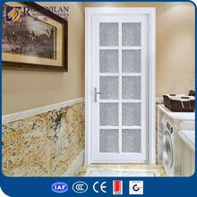 ROGENILAN 45# AS2047 CE custom high-end teak wood designer entry door wood entry door with frosted glass
