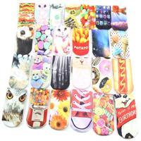 новые 3d печати унисекс мило низким вырезать короткие носки несколько цветов harajuku стиль