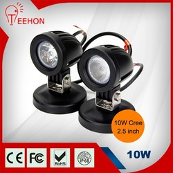 4x4 accessory c ree led work light 12v mini 10w led motorcycle light