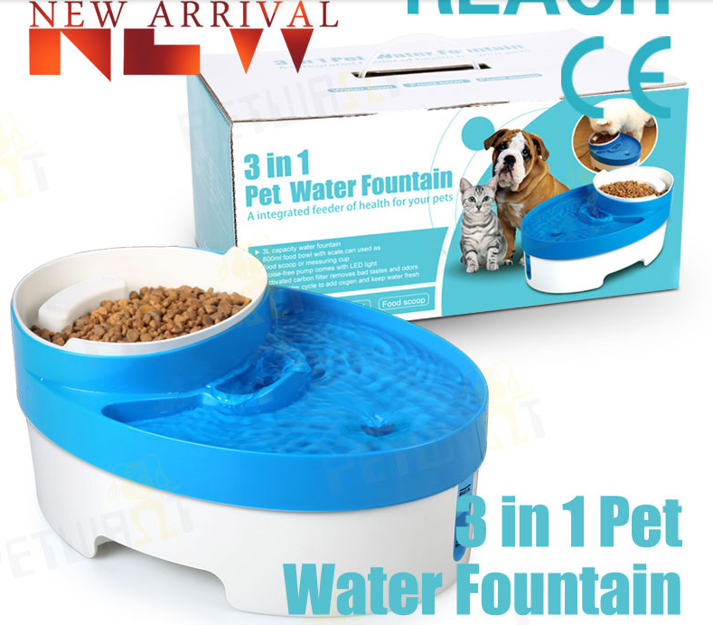 Automatic Pet Drinking and Food Bowl for dog cat .png