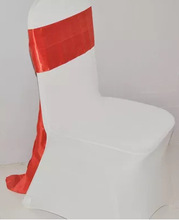 satin sash ribbon or belt style,wholesale organza fabric wedding chair cover at factory price