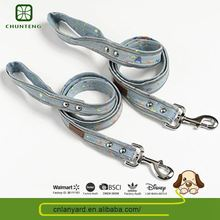 Customization Dog Outdoor Support Oem/Odm Natural Color Dog Leashes Rhinestone