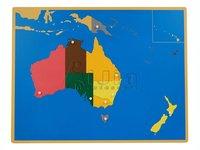 Montessori Puzzle Map of Australia,montessori materials