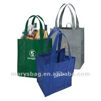 Non Woven Tote Bag with Covered Bottom Stiffener and Hanging Loop