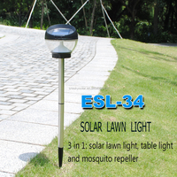 Energy Save Led Bright Solar Stainless Steel Lawn Garden Light