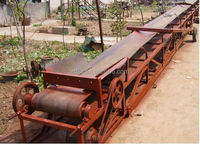 high inclination angle belt conveyor with factory price