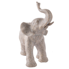 small size elephant sculpture for home garden decor ornament sandstone crafts 12045