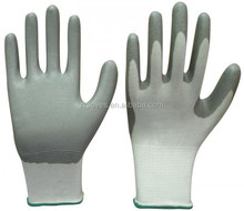 13gauge sandy nitrile palm with TPR on back mechanic impact gloves