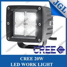 HOT!!!cree 20w auto led work light,spot/flood beam 1400Lm off road driving foglamp fit all cars