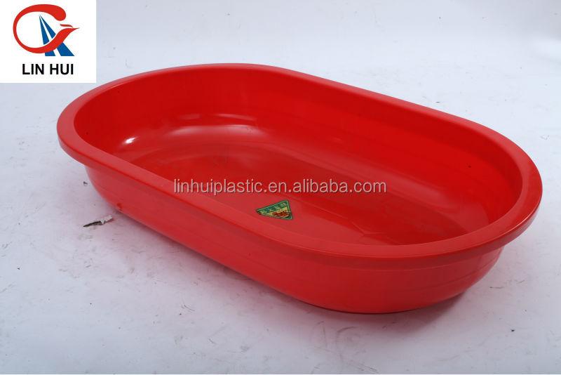 Taille compl te rotation grande baignoire en plastique pe for Grande baignoire plastique