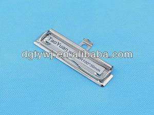 top qualité unique forme logo métallique clips