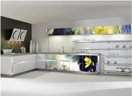 Goedkope moderne keuken kast meubels met zwart aanrechtblad voor ...