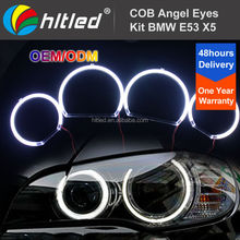 COB LED Red Light Car Angel Eyes Kit DC 12V / 127mm + 158mm Diameter for BMW E53(X5) Facelift Conversion