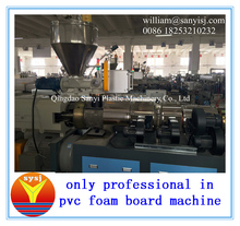 Founder of PVC foam board extrusion line with recycle plastic wast