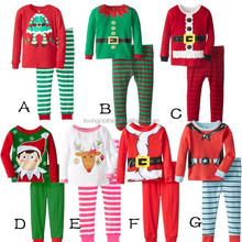 Hot sale kids stripe clothes lovely girls outfits fall baby clothes 2015 christmas children clothing