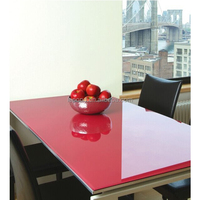 N373 Durable Color Coating Table Top Tempered Glass, Back-Painted Laminated Glass Cutting Table
