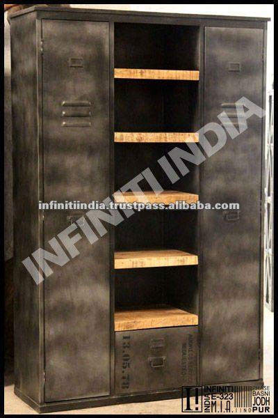 Style industriel armoire mobilier industriel autres meubles en m tal id du p - Armoire style industriel ...