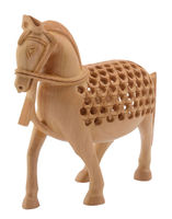 Wood Carving Horse Indian Handmade Carved Wooden Horse Statue